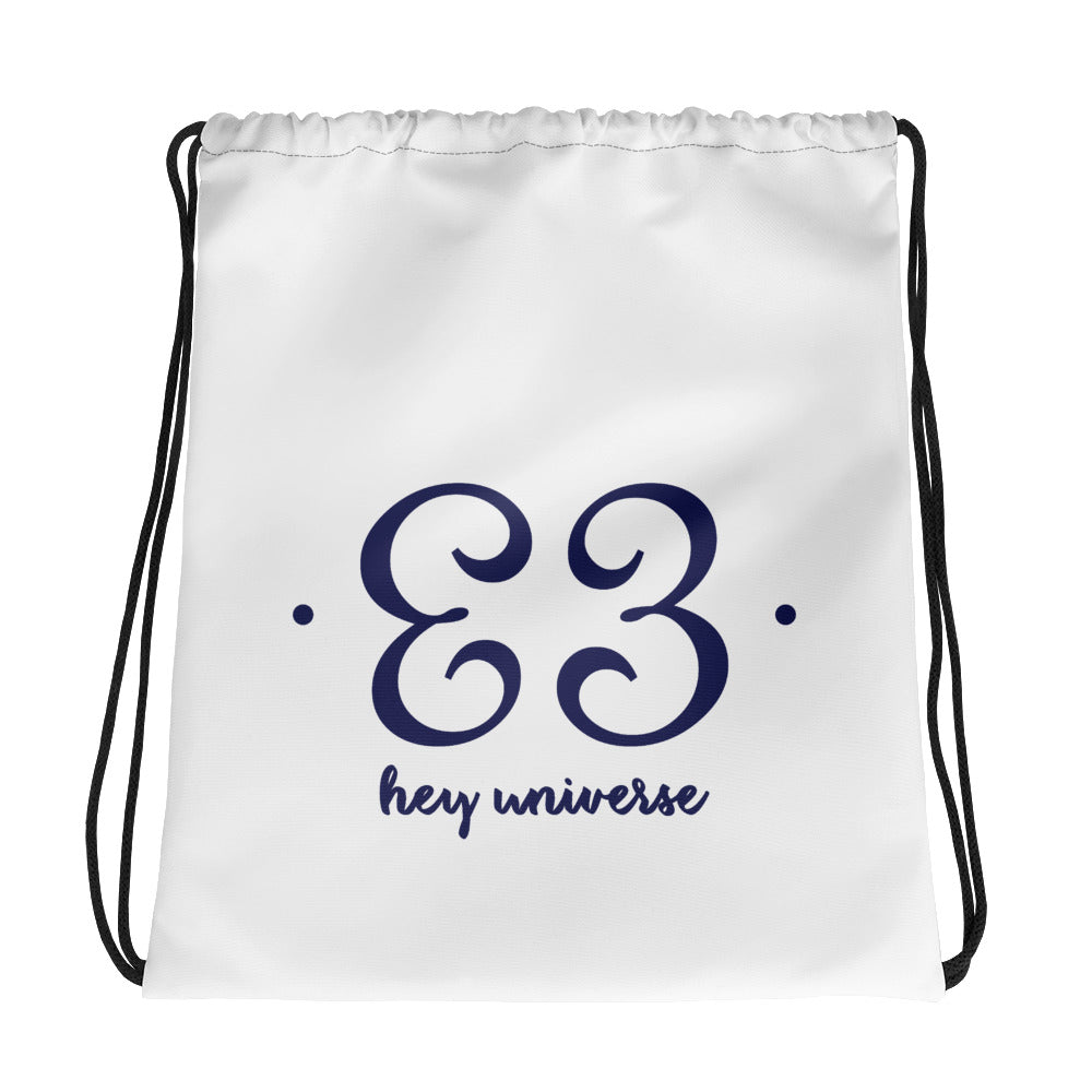 Hey Universe Drawstring Bag