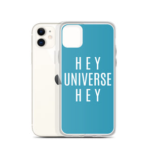 Hey Universe Hey Teal iPhone Case