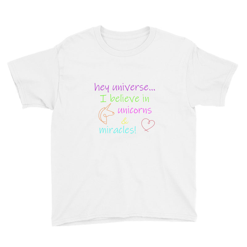 Kid's I Believe in Miracles & Unicorns Tee