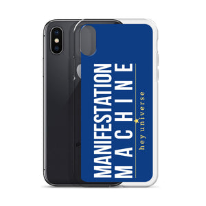 Manifestation Machine Blue iPhone Case
