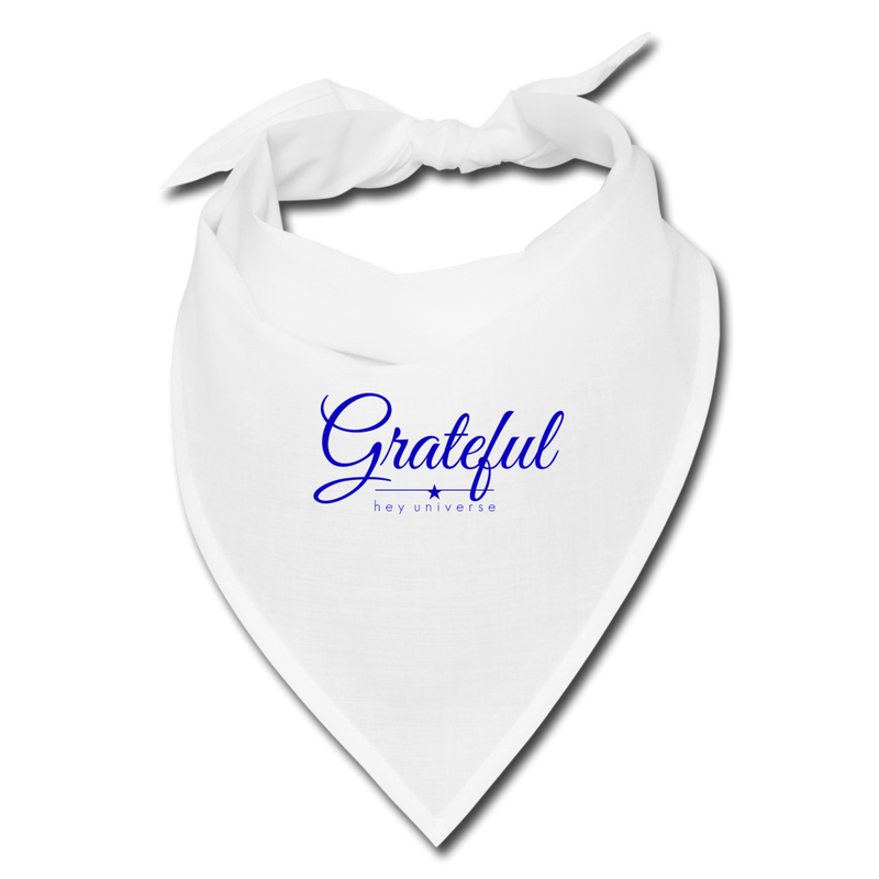 Grateful Bandana Face Covering - white