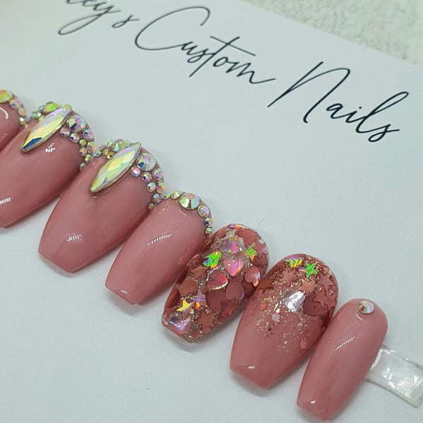 Pink sparkle and bling