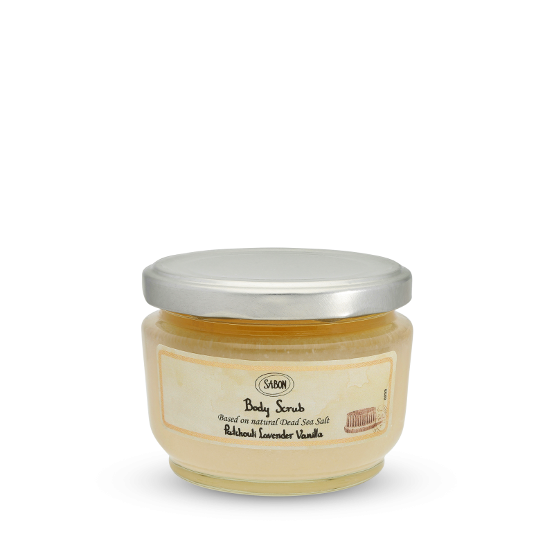 Body Scrub Small - Patchouli Lavender Vanilla - Sabon Singapore