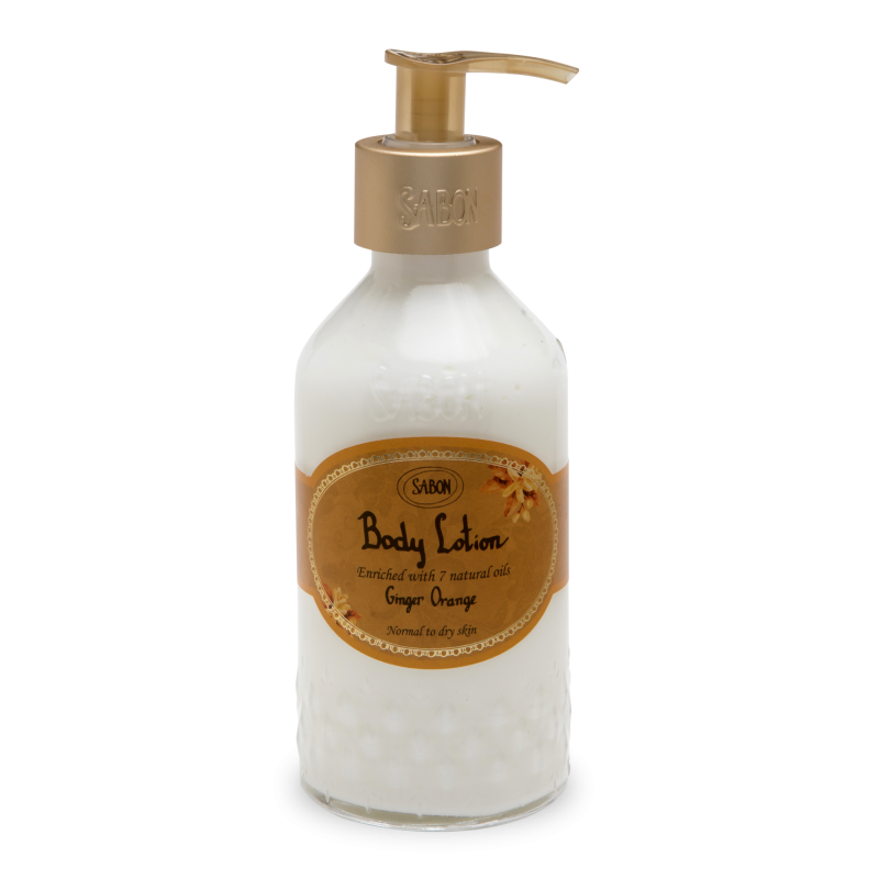 Body Lotion Bottle - Ginger Orange - Sabon Singapore