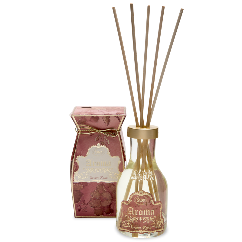 Aroma Reed Diffuser - Green Rose - Sabon Singapore