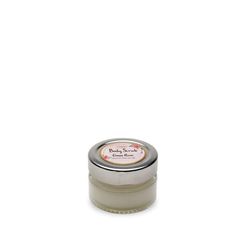 Mini Body Scrub (Jar) - Green Rose - Sabon Singapore