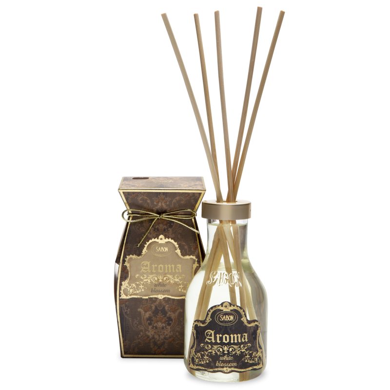 Aroma Reed Diffuser - White Blossom Linen - Sabon Singapore