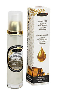 La Cremerie - Siero viso Oro 24k e acido ialuronico 50 ml - Facial serum gold 24k e hyaluronic acid