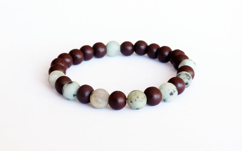Natural gemstone bracelet Lotus jasper