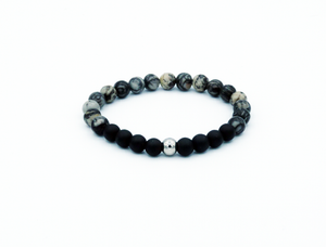 Mighty natural black silk armband