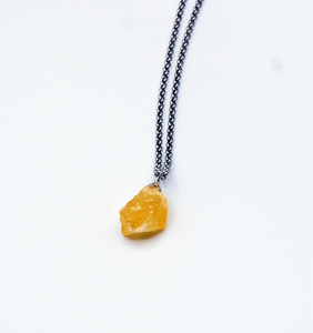 Yellow flavor ketting (ruw calciet)