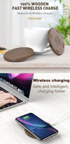 Fast Wireless Circular Wooden Charger