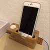 2 in 1 Bamboo Wood Desktop Stand