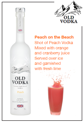 Peach on the Beach Vodka 700ml (6 Bottles)