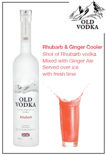 Rhubarb & Ginger Cooler Vodka 700ml (6 Bottles)