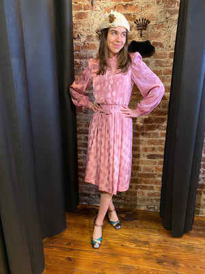 Pink  dress with peter pan collar
