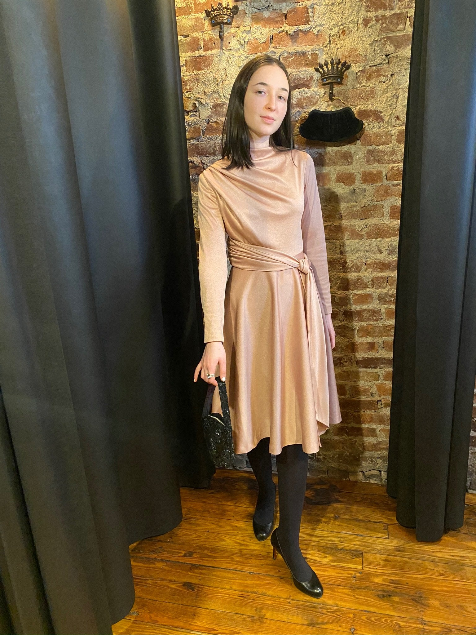 Polyester mauve dress