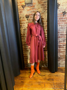 Polyester burgundy dress