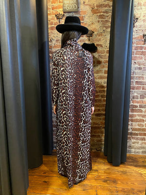 Leopard turtle neck maxi