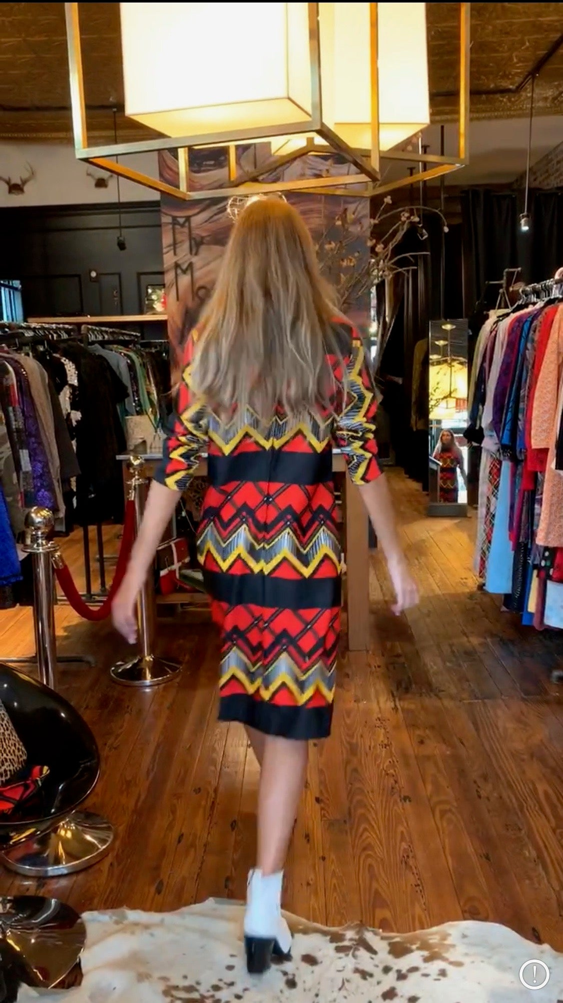 Bold colored chevron shift