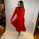 Ruffle red xo dress
