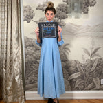 Light blue lurex maxi