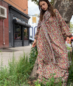 Bitty floral tent dress