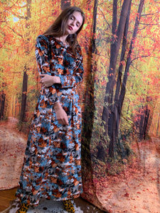 Flannel maxi with petite flowers