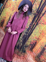 Berry high wasted fall midi