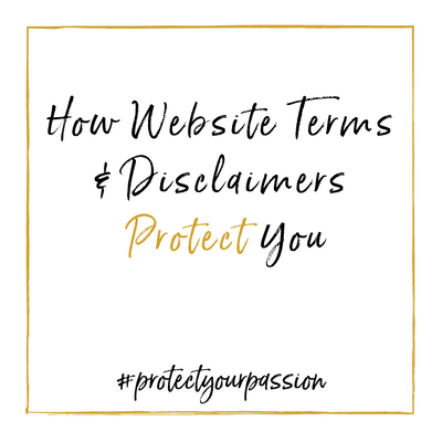 So How Do Terms of Service and Disclaimers Protect YOU & Your Content?