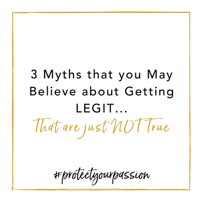 3 myths that you may believe about GETTING LEGIT that are just NOT TRUE