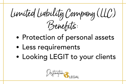 limited liability corporation llc benefits protection of personal assets less requirements looking legit to your clients