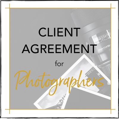 Client Agreement for Photographers