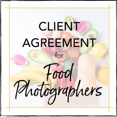 Client Agreement for Food Photographers