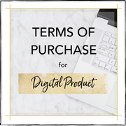 Terms of Purchase Digital Product