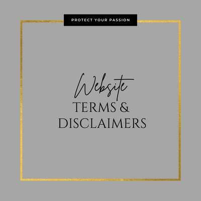 Website Terms & Disclaimers