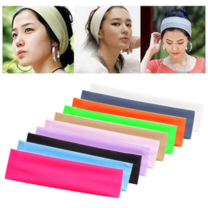 Women Yoga Elastic Turban Hair Band