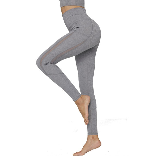 SYPREM woman yoga pants / leggings mesh high waist