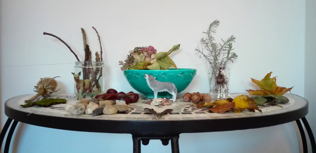 Our Nature Table - Montessori Nature Table - Winter Table - Montessori Choice
