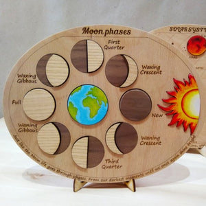 Moon Phases Puzzle - Montessori Learning by Playing Materials