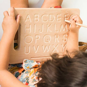 Alphabet Tracing Board- Handmade Montessori Learning by Playing Materials