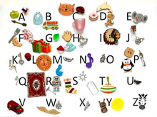 Load image into Gallery viewer, ABC 50 Alphabet Objects Set - Montessori Learning by Playing Material