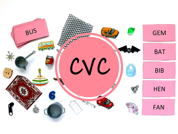 Pink Series 30 CVC Objects Set -Montessori Learning by Playing Material