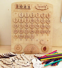 Load image into Gallery viewer, Wooden Calendar - Perpetual Montessori Learning by Playing Material