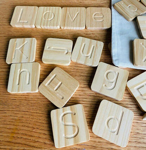 Wooden Alphabet Tracing Cards