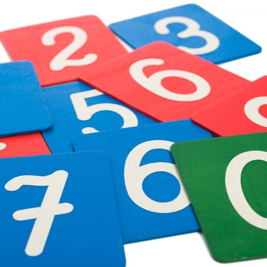 Sandpaper Numbers - Sensorial Handmade Montessori Learning by Playing Materials
