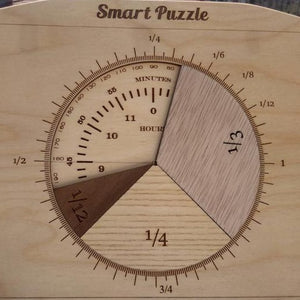 Fractions Puzzle - Handmade Mathematics Learning by Playing Materials