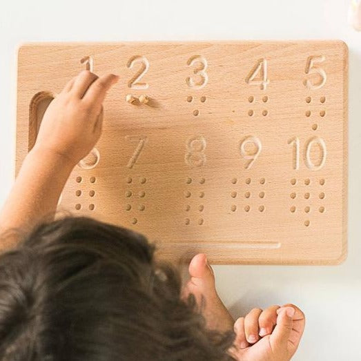 Numbers Tracing Board - Handmade Montessori Learning by Playing Materials