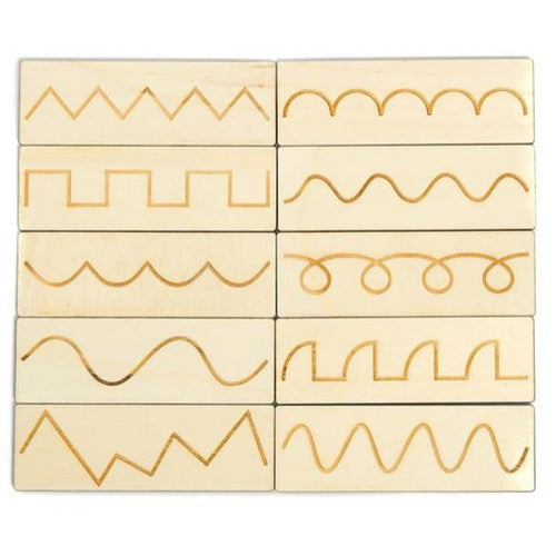 Patterns Tracing Tiles - Pre-Writing Handmade Montessori Learning by Playing Materials
