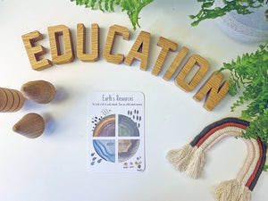 Earth's Resources - Educational Card - Learning by Playing Materials